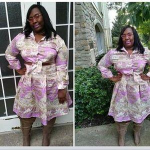 Dresses & Skirts - Tribal Printed Crop Set Plus Size